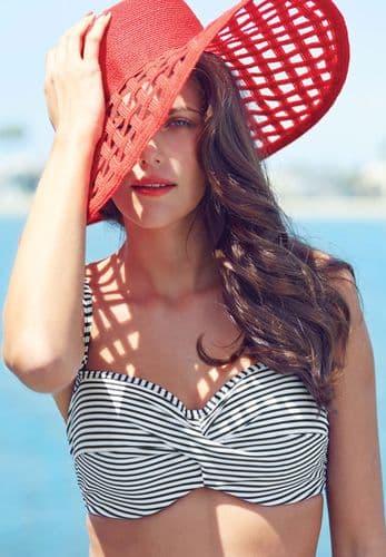 Anya Stripe Bandeau Bikini Top