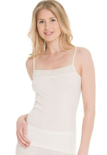 Merino Camisole with a touch of Lace