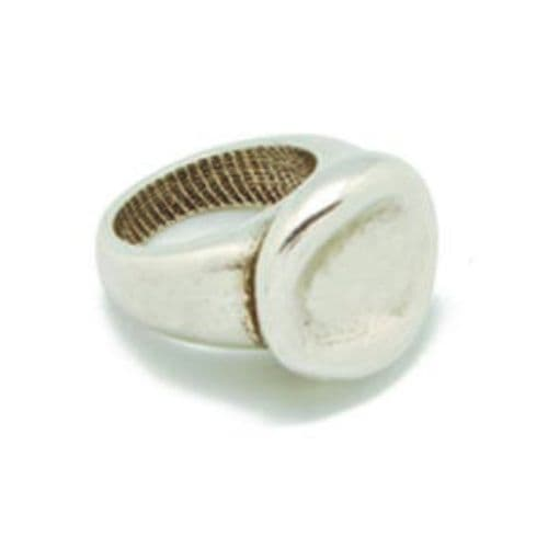 Ciclon Irregular shaped Silver Nugget Ring