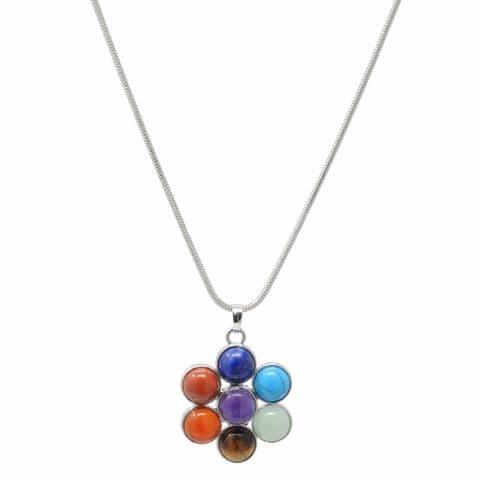 Bisoux Handmade Chakra Flower Short Necklace
