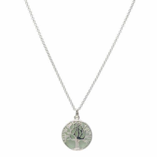 Bisoux Handmade Short Tree of Life Necklace with Aventurine Semi Precious Stone