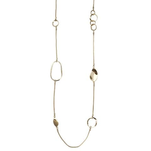 Bisoux Jewellery Long Gold Irregular Necklace