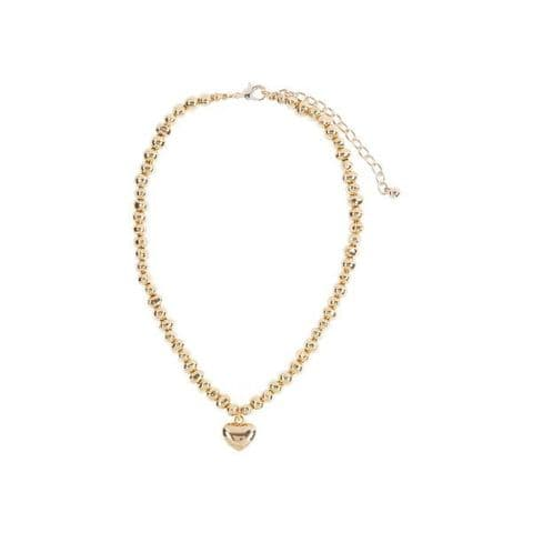 Bisoux Jewellery Short Sweetheart Necklace in Rose Gold