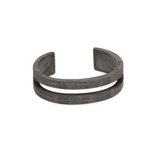 Branch Jewellery Natural Buffalo Horn Cut Out Cuff Bangle in Natural Grey