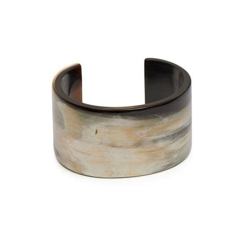 Branch Jewellery Natural Buffalo Horn Cut Out Cuff Bangle in Natural White