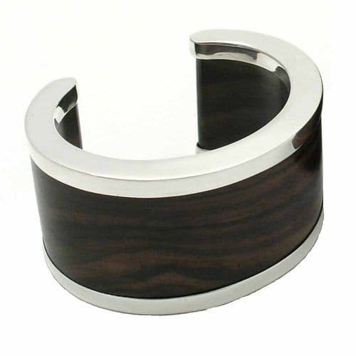 Branch Jewellery Straight Edge Cuff with Silver plated metal edging