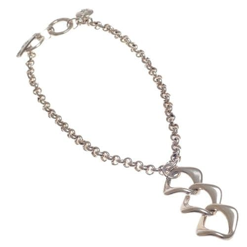 Ciclon Chain Necklace with Tripple Link Pendant