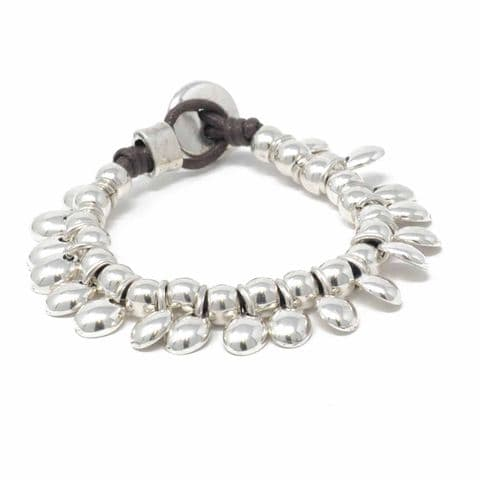 Ciclon Jewellery Bracelet  with Silver Toggle and Circle Feature Charms