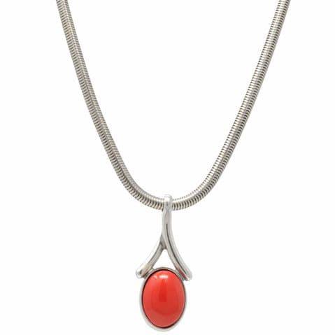 Ciclon Jewellery Orange Pendant Necklace