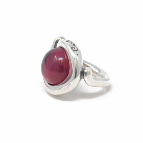 Ciclon Jewellery Ring with Transparent Pink Resin Stone