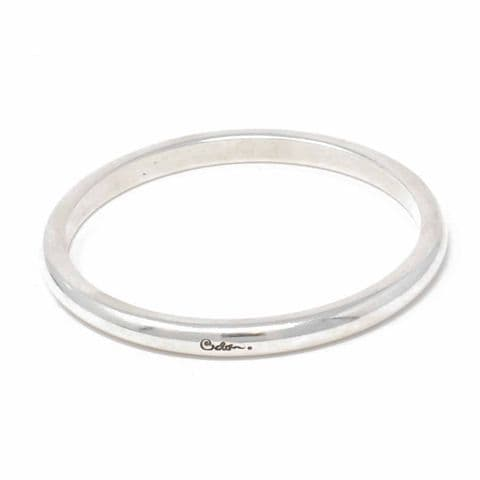 Ciclon Jewellery Solid Simple Straight Silver Bangle