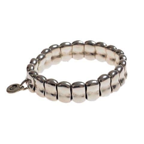 Ciclon Metal Nuggets On Elastic Bracelet