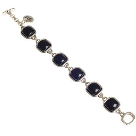 Ciclon Square Resin Feature Bracelet in Black