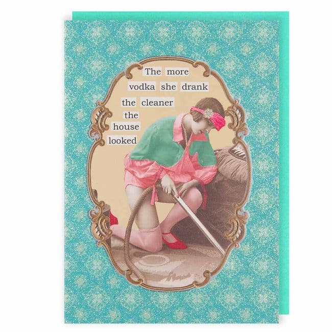 Darling Diva's The More Vodka Blank Greeting Card