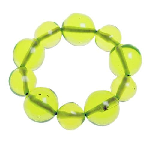 Jackie Brazil Abstract Balls Bracelet in Transparent Green