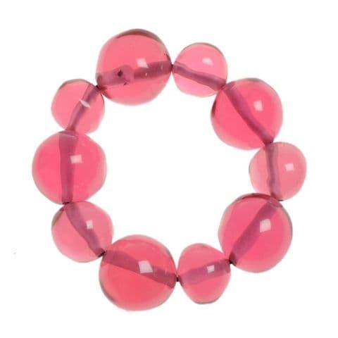 Jackie Brazil Abstract Balls Bracelet in Transparent Pink