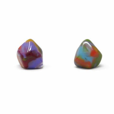 Jackie Brazil Abstract Camille Stud Earrings in Kandinsky