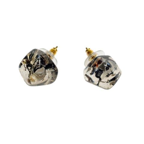 Jackie Brazil Abstract Camille Stud Earrings in Seaweed