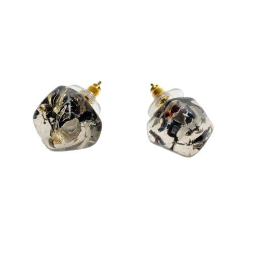 Jackie Brazil Abstract Camille Stud Earrings in Seaweed