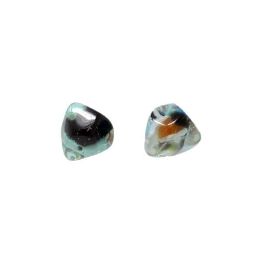 Jackie Brazil Abstract Camille Stud Earrings in Transparent Blue Cascade