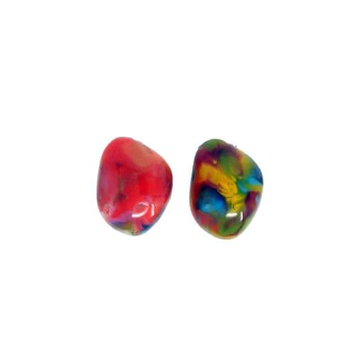 Jackie Brazil Abstract Diamond Clip On Earrings in Kandinsky