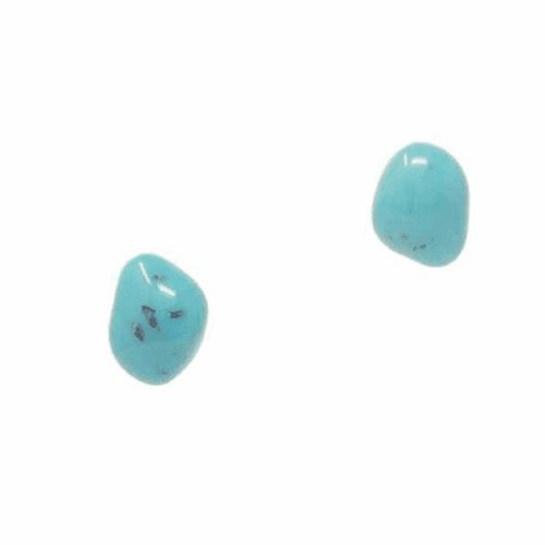Jackie Brazil Abstract Diamond Stud Earrings in Turquiose