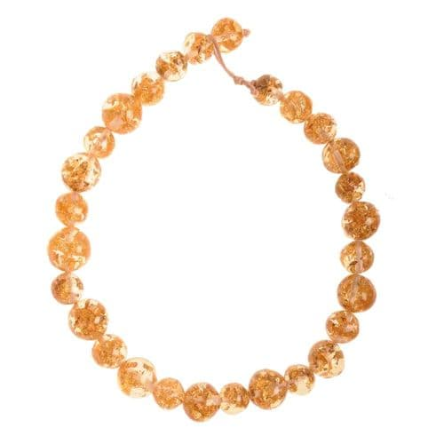 Jackie Brazil Abstract Long Balls Necklace in Gold Flake