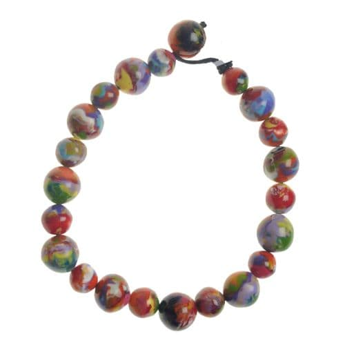Jackie Brazil Abstract Short Balls Necklace in Kandinsky