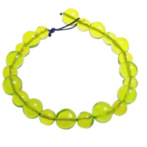 Jackie Brazil Abstract Short Balls Necklace in Transparent Green