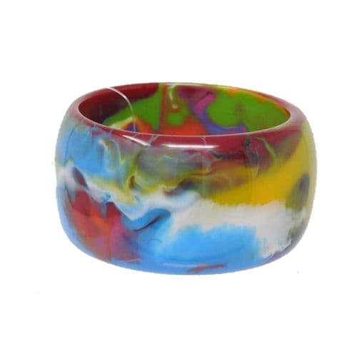 Jackie Brazil Carmen Solid 5cm Bangle in Kandinsky