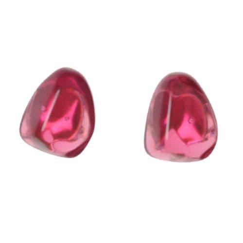 Jackie Brazil Flintstones on Clip On Earrings in Pink