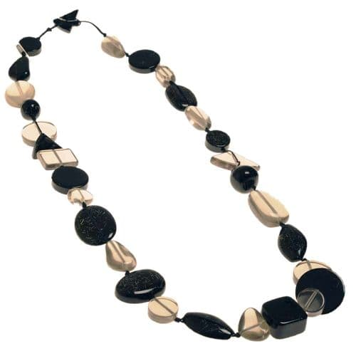 Jackie Brazil Indiana long necklace in Black
