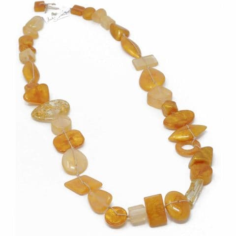 Jackie Brazil Indiana long necklace in Gold