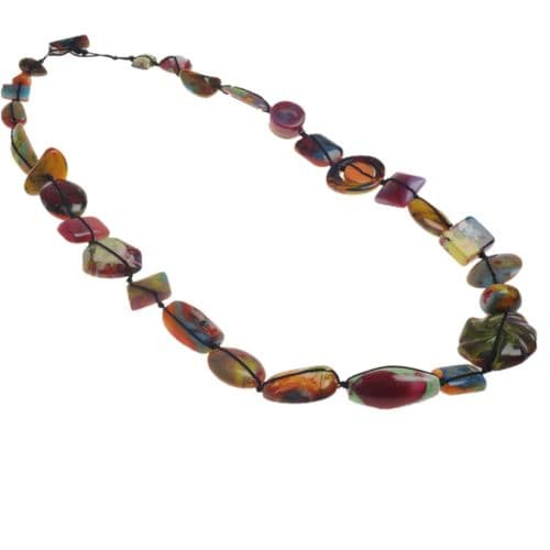 Jackie Brazil Indiana long necklace in Kandinsky A