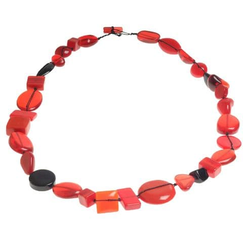 Jackie Brazil Indiana long necklace in Red