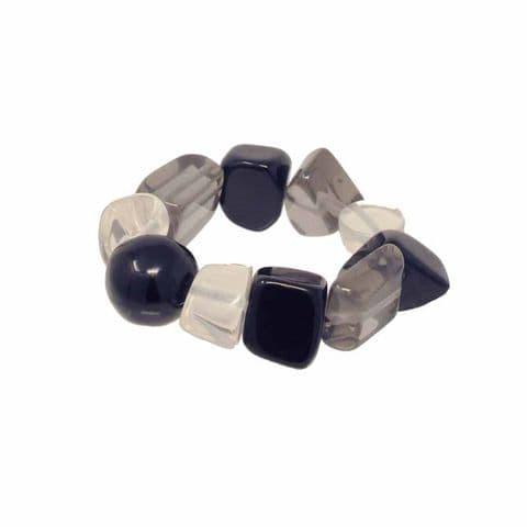 Jackie Brazil Indiana Multi Bead Bracelet in Black