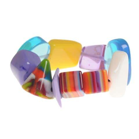 Jackie Brazil Indiana Multi Bead Bracelet in Mix Colours
