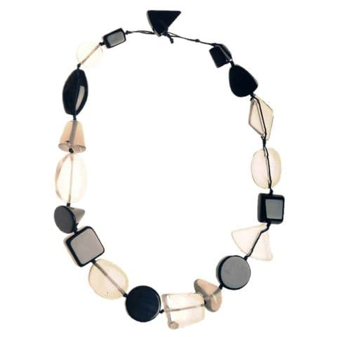 Jackie Brazil Indiana short necklace in Black & Transparent