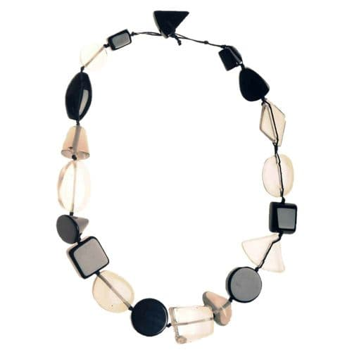 Jackie Brazil Indiana short necklace in Black & Transparent