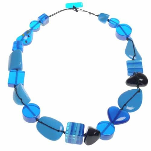 Jackie Brazil Indiana short necklace in Blue
