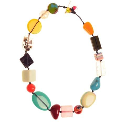 Jackie Brazil Indiana short necklace in Mix Colours