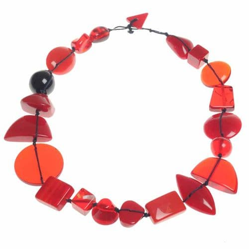 Jackie Brazil Indiana short necklace in Red