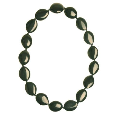 Jackie Brazil Kathy Short Resin Necklace in Black Gloss