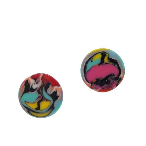 Jackie Brazil Lena Large Disc in Kandinsky with Clip On or Stud Fastening