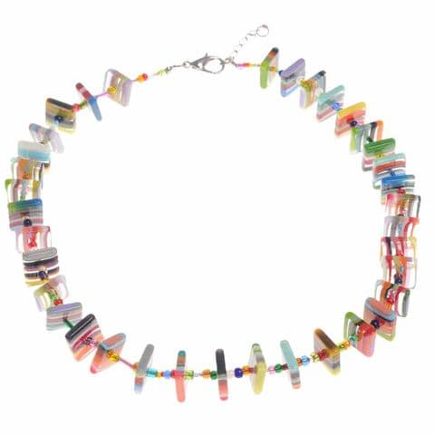 Jackie Brazil Liquorice Allsorts Africa Necklace in Mix Colours