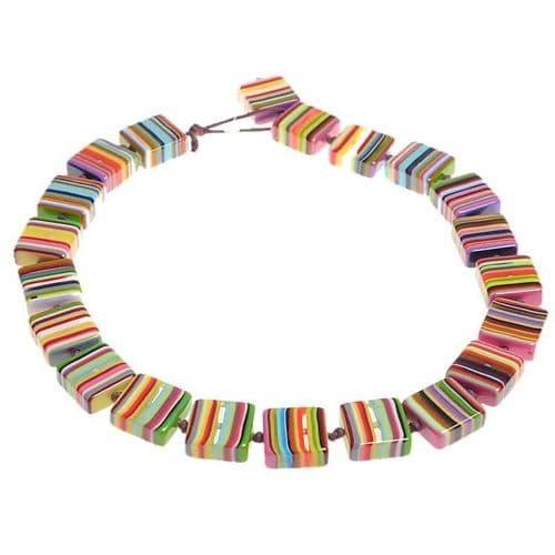 Jackie Brazil Liquorice Half cube necklace in Mix Colours