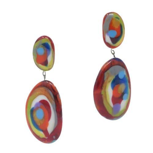 Jackie Brazil Riverstones on Stud Earrings in Kandinsky B
