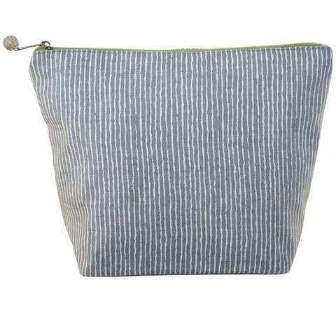 Lua Designs Large Cosmetic Bag in Grey Stripe