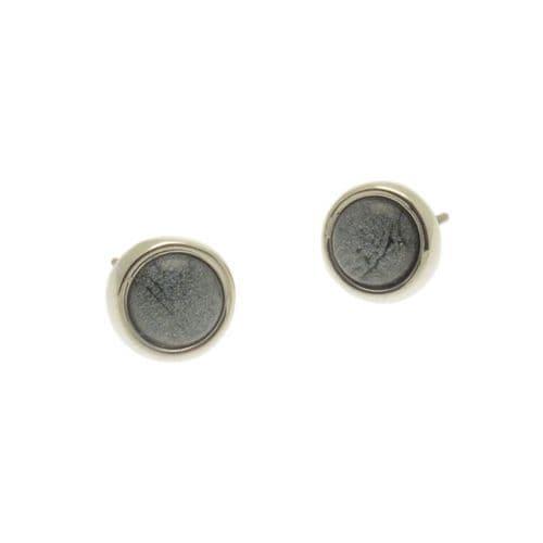 Miss Milly Grey Resin Stud Earrings