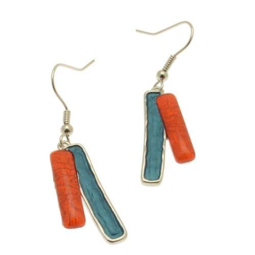 Miss Milly Orange Mix Earrings